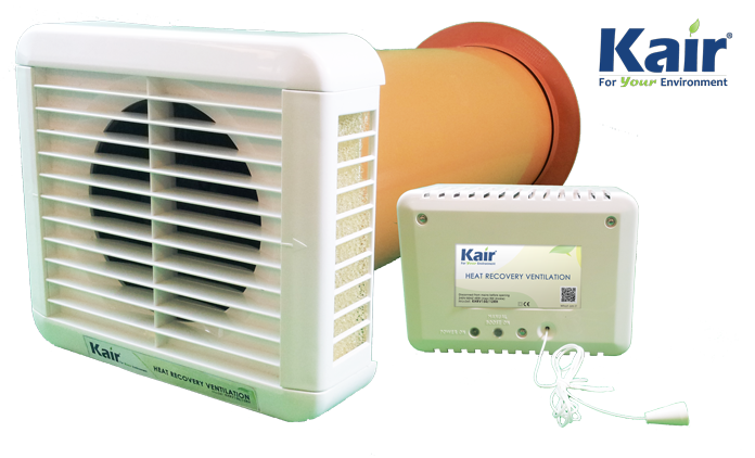 KAIR KHRV150 SINGLE ROOM HEAT RECOVERY VENT