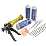 Helical Bar And Polyester Resin Crack Repair Kit