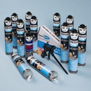 Mega Stik Plasterboard Adhesive 12 Can Kit