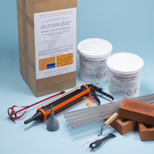 helical crack stitch brick repair kit with 20 bars