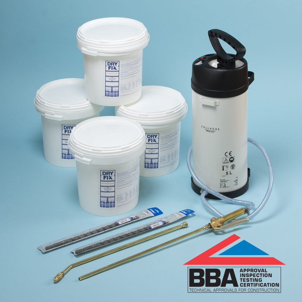 Aquatex Damp Proofing Systems Waterproof Wall Paints: DryFix DPC Damp Proofing Injection Cream BBA 5Ltrs X 4 Kit