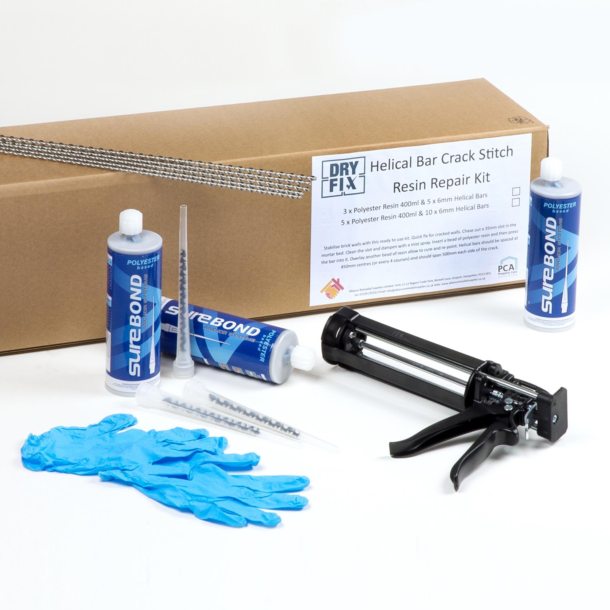 Helical-Bar-Brick-Repair-Resin-Kit