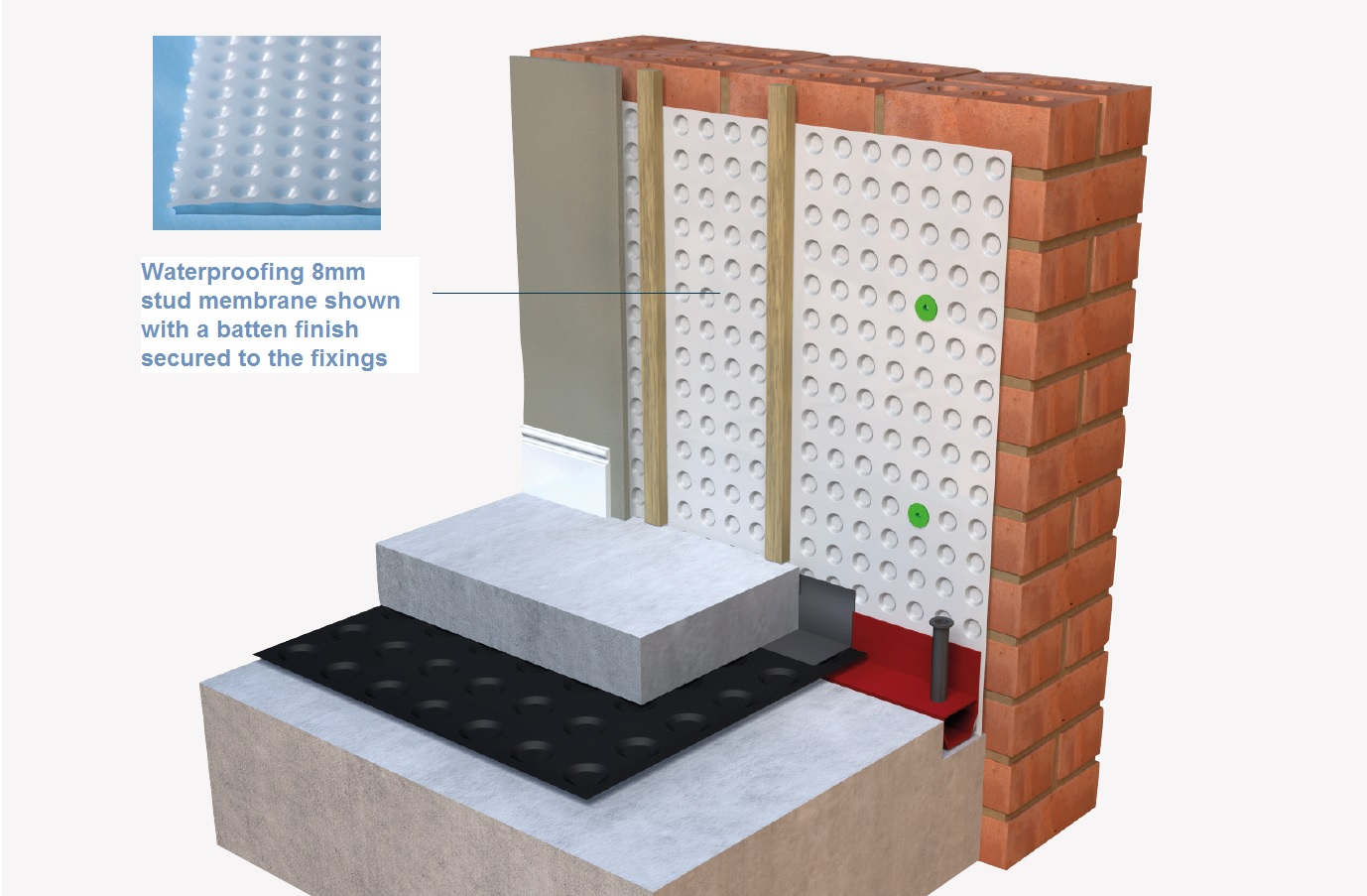 CELLAR//BASEMENT BRICK PLUGS MEMBRANE TANKING x 100