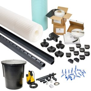 Basement-Tanking-8mm-Stud-Cavity-Membrane-Waterproofing-System-80m2